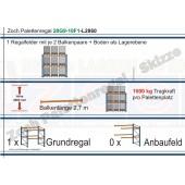 Palettenregal 20G9-10F1 Länge: 2860 mm mit 1000kg je Palettenplatz