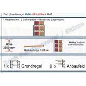 Palettenregal 35G6-10F1 Länge: 2010 mm mit 1000 kg je Palettenplatz