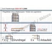 Palettenregal 35G9-10F1 Länge: 2860 mm mit 1000kg je Palettenplatz